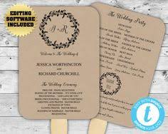 kraft paper wedding programs heart wedding program template wedding fans wedding fan