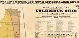 map of columbus map of columbus ohio 1881 maps and vintage prints