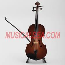 miniature violin mini cello ornament craft miniature