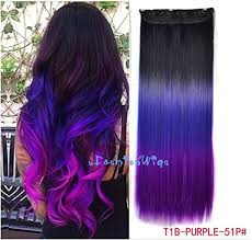 purple hair extensions black to purple to grape purple three colors ombre hair extension