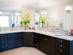 L Shaped Bathroom Vanity by Like The Combo Of Mosaic Tile U0026 Neutrals U0026 Dark Cabinet