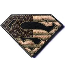 American Flag Morale Patch Superman American Flag Usa Army Military Tactical Patch Hook