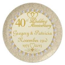 personalized anniversary plates damask 40th wedding anniversary design plate damasks wedding