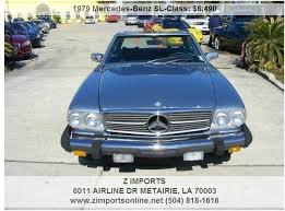 mercedes metairie 1979 mercedes sl class leather interior in metairie la z