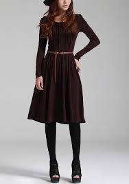 purple wine red vintage sweater dress women sweater long sleeve