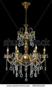 Giant Chandelier Contemporary Glass Chandelier Isolated On Black Stock Photo