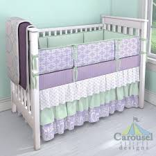Lilac Damask Crib Bedding Nursery Beddings Lavender And Green Baby Bedding Also Lavender