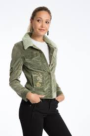 janie 60 u0027s velveteen embroidered trucker jacket women u0027s casual