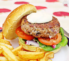 cuisine burger burgers with lemon mayonnaise
