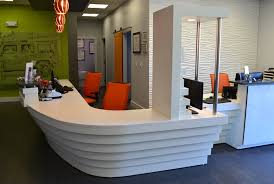 Reception Desk With Transaction Counter Reception Station Appx 16 3 X 18 6 X 42 H 2 Silestone