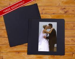 Custom Wedding Albums Custom Wedding Album With Cameo And Leatherette Cover Flush