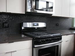 black kitchen backsplash ideas black backsplash tile home designs idea