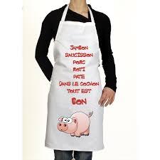 cuisine du cochon tablier de cuisine original cochon idée de cadeau rigolo