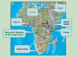 nigeria physical map political and physical map