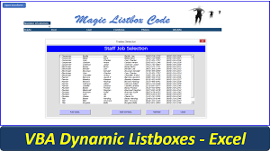 dynamic userform listbox listbox vba code online pc learning