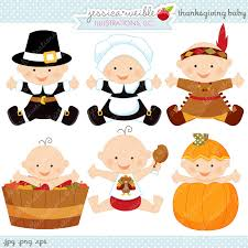 thanksgiving baby digital clipart commercial use ok