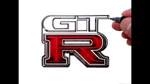 nissan logos how to draw the nissan gtr logo youtube