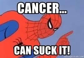 Spiderman Meme Cancer - cancer can suck it spiderman meme generator