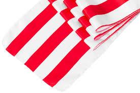 red and white table runner stripe satin table runner red white cv linens