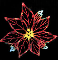 Christmas Window Decorations by Amazon Com Vickerman Lighted Led Poinsettia Flower Christmas