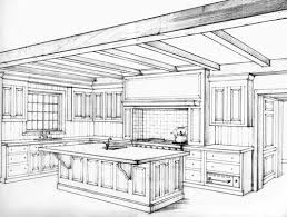 Kitchen Design Drawings Kitchen Perspective Drawing 2 Point Perspective Kitchen Drawing