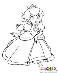 princess peach super mario coloring pages