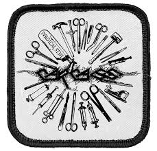 surgical steel band 34 best heavy metal patches i want images on black