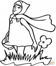 red riding hood coloring pages coloring