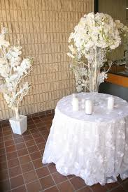 silver lace table overlay white rose with silver sequins overlay right choice linen