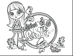 littlest pet shop colouring pages cuties coloring dog blythe page