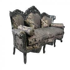canapé baroque canapé baroque en tissu satiné noir à fleurs