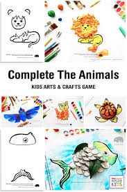 complete the animals kids craft activity the best ideas for kids