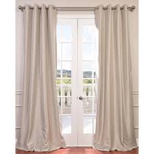 exclusive fabrics grommet blackout faux silk taffeta 108 inch length curtain panel