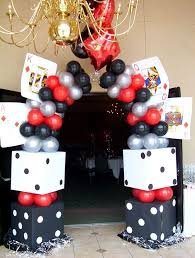 themed decorations casino theme party entrance 21st birthday bash