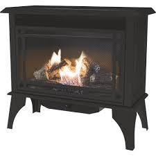 pleasant hearth vent free dual fuel stove u2014 30 000 btu model