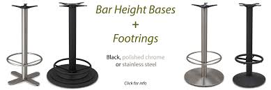 bar height table base with foot ring bar height bases foot rings tablebases com