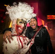 halloween horror nights 2007 chris brown u0026 karrueche kylie jenner u0026 tyga at the universal