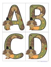 thanksgiving alphabet free by kidsparkz teachers pay teachers