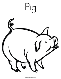 Pig Coloring Pages Twisty Noodle Pig Coloring Pages