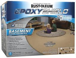 rust oleum epoxyshield tan basement floor coating kit 1 gal at