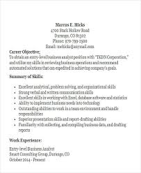 Entry Level Business Analyst Resume Examples by Business Resume Sample Free U0026 Premium Templates