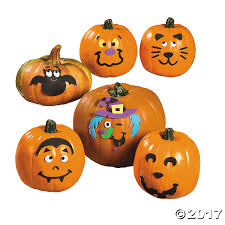 Christian Halloween Craft Small Pumpkin Face Craft Kit