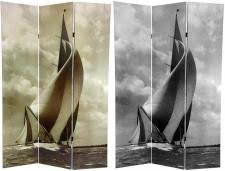 Nautical Room Divider Theme Decorating With Sail Boat Room Divider Screen
