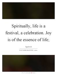 spiritually is a festival a celebration is of the