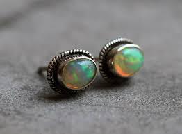 opal earrings stud buy genuine opal stud earrings in sterling silver online at