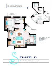 Floor Plans Of Tv Homes From Friends To Frasier 13 Famous Tv Shows Rendered In Plan