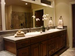 unusual design of bathroom vanity mirror featuring rectangle shape