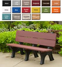 outdoor poly furniture amish popb3472 park style garden bench