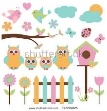 vector set theme birds stock vector 391219243