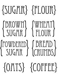 custom kitchen canister labels printables pinterest